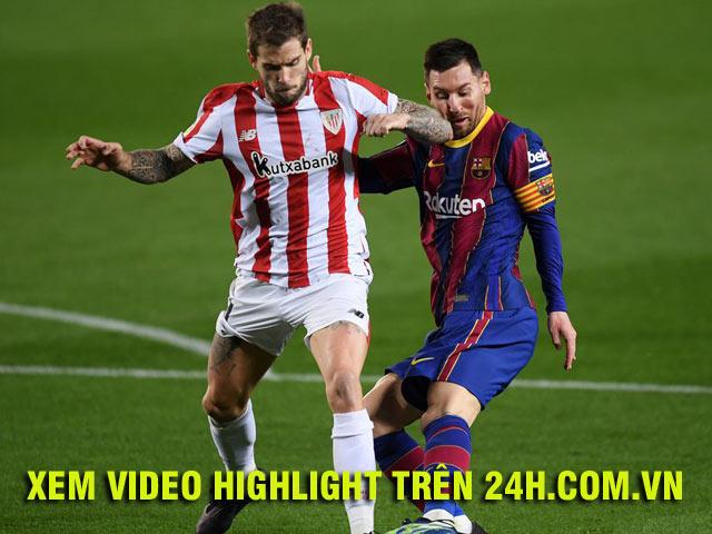 Video Barcelona - Bilbao: Messi rực sáng, hú vía vì sai lầm