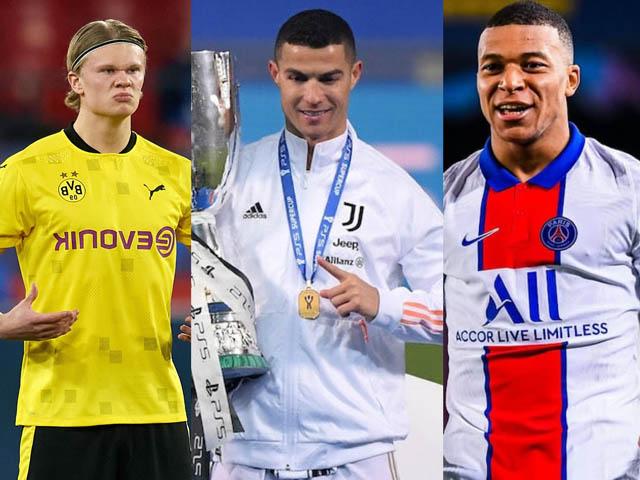 Mbappe và Haaland đọ tài: Cần ghi bao nhiêu bàn thắng để sánh ngang với Ronaldo?