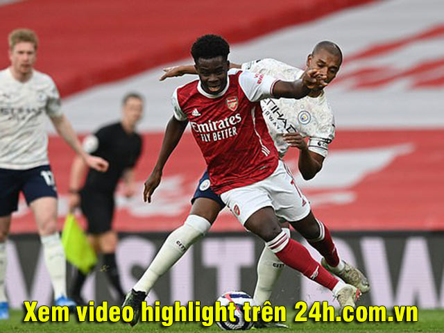 Video Arsenal - Man City: Gáo nước lạnh ngay phút thứ 2, chiến thắng tối thiểu