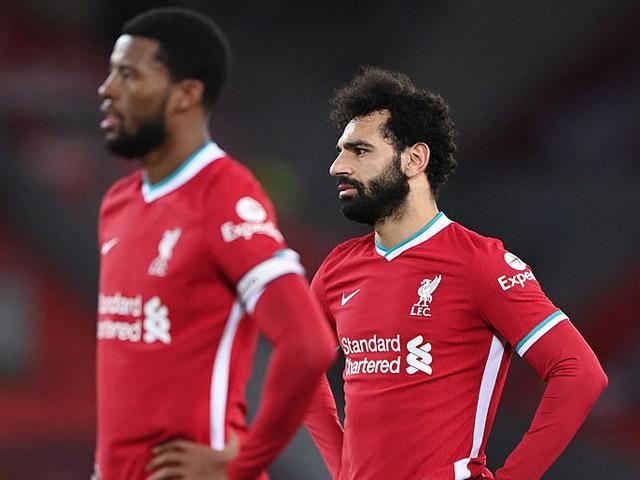 Liverpool lập kỷ lục tệ nhất trong gần 1 thế kỷ, hết cửa vô địch Ngoại hạng Anh