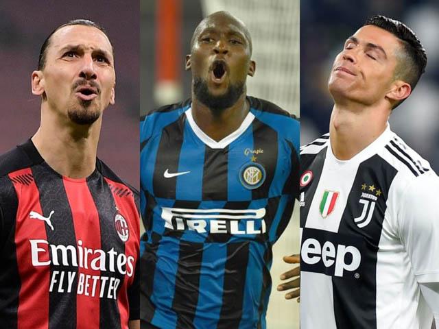 """Đua Vua phá lưới Serie A: Lukaku vượt 2 """"ông già"""" Ronaldo và Ibrahimovic"""
