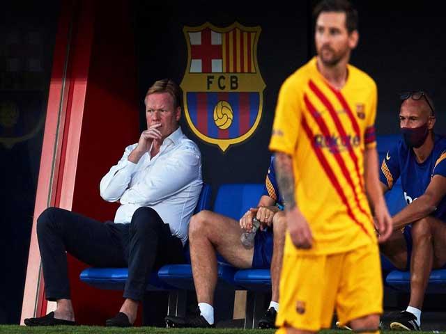 Lùm xùm Messi, Barca khủng hoảng: HLV Koeman có từ chức?