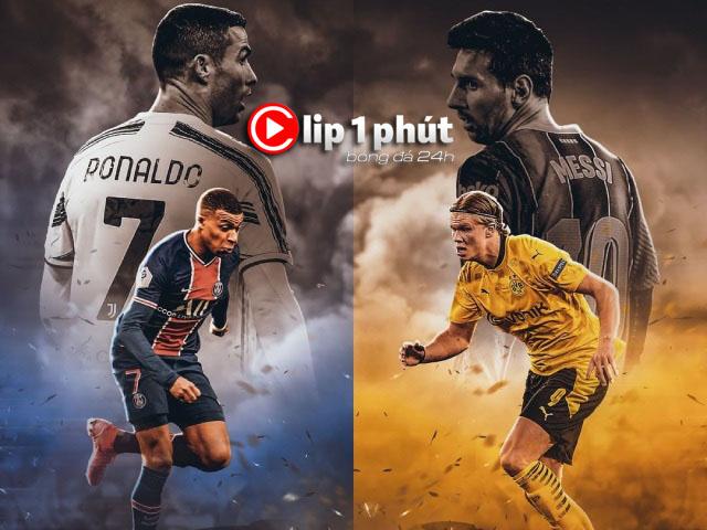 """Ronaldo - Messi làm """"trùm"""" Serie A - La Liga, thách thức Mbappe - Haaland (Clip 1 phút Bóng đá 24H)"""