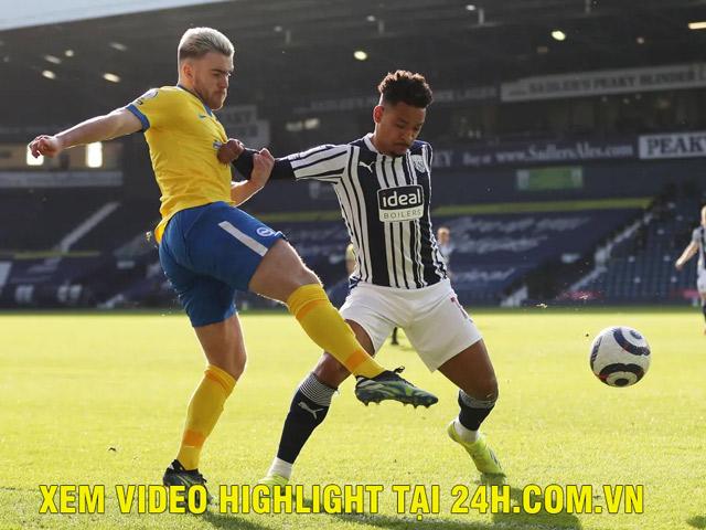 Trực tiếp bóng đá West Brom - Brighton: Đội khách bị tước bàn thắng