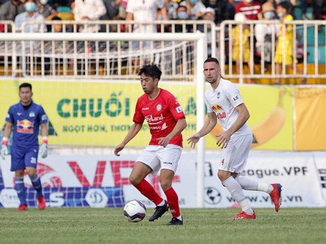 Trực tiếp bóng đá HAGL - TP.HCM: Federico đá chạm cột dọc, Lee Nguyễn bỏ lỡ sút bồi (H1)