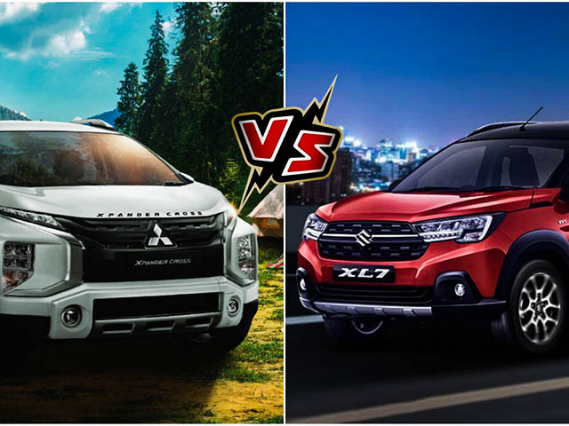 Comparing Suzuki XL7 and Mitsubishi Xpander Cross, the same but different price