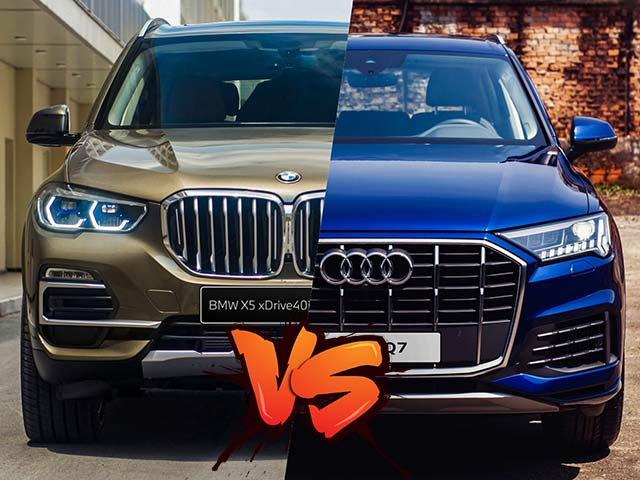Comparing two models of BMW X5 and Audi Q7, there is no difference in luxury SUV segment