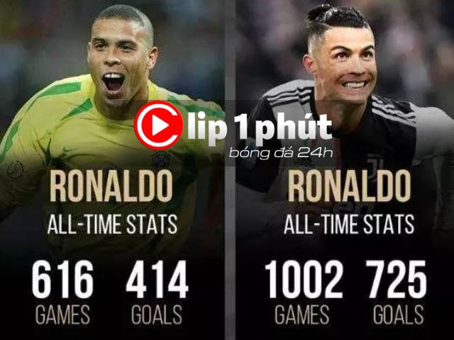 """Tranh cãi huyền thoại thích Ronaldo """"béo"""" hay CR7 hơn? (Clip 1 phút Bóng đá 24H)"""