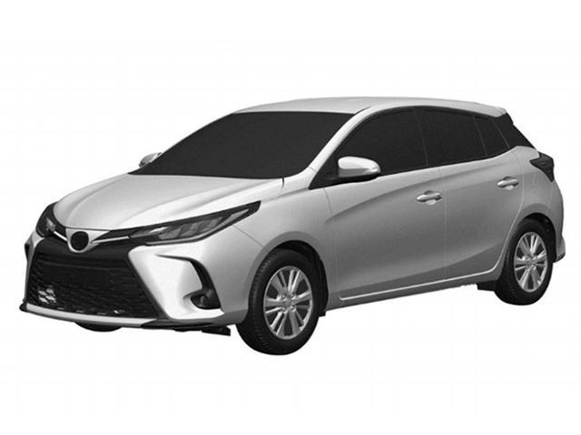 Toyota Yaris 2021 rò rỉ hình ảnh bằng sáng chế, nhiều thay đổi đáng chú ý