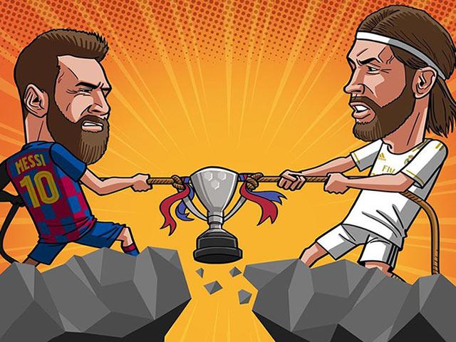 Ảnh chế: La Liga trở lại, cuộc đua vô địch giữa Real và Barca ai sẽ chiến thắng?