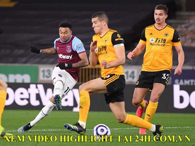 """Video Wolves - West Ham: Đại tiệc 5 bàn thắng, Lingard """"nhảy múa"""" lập siêu phẩm"""