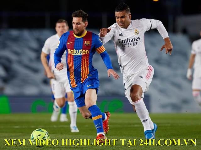 Video Real Madrid - Barcelona: Tuyệt phẩm đánh gót, thẻ đỏ và tiếc nuối xà ngang phút 90+4