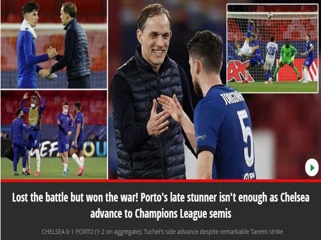 """Chelsea vào bán kết Cúp C1, Tuchelđón """"mưa"""" lời chúc từ truyền thông Anh"""