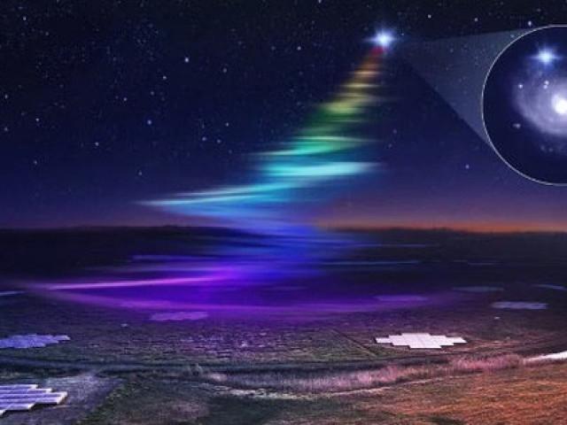 """Thiên hà khác phát tín hiệu """"cầu vồng"""" xuống Trái Đất 18 lần"""