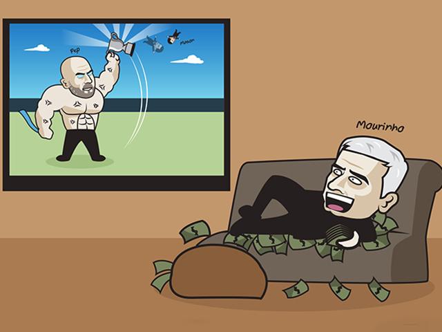 Ảnh chế: Mourinho ôm bọc tiền hả hê khi Tottenham thua chung kết Carabao Cup