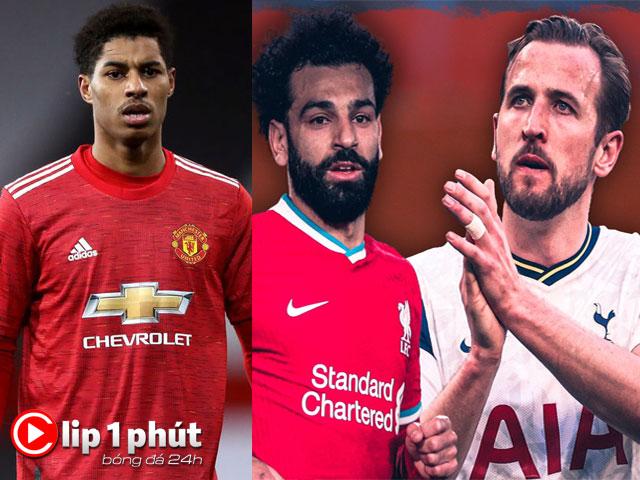 MU lo tương lai Rashford, Salah muốn sát cánh Kane xưng bá Ngoại hạng Anh (Clip 1 phút Bóng đá 24H)