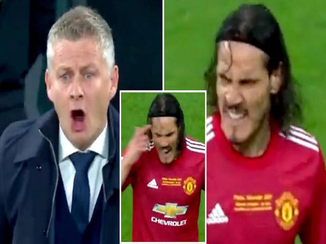 """MU thua đau chung kết Europa League, Cavani """"bật"""" Solskjaer ngay trên sân"""