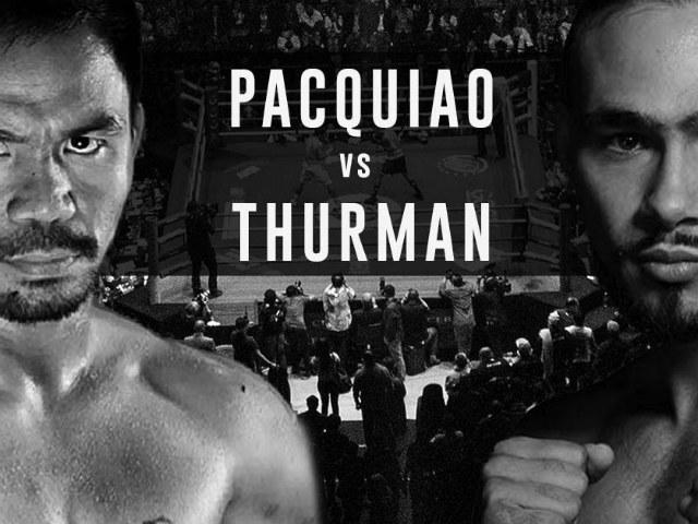 """Video, kết quả boxing Pacquiao - Thurman: """"Đo sàn"""" choáng váng ngay hiệp 1 - 2"""