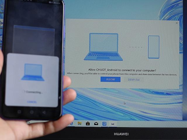Hướng dẫn dùng Huawei Share kéo thả dữ liệu giữa laptop và smartphone