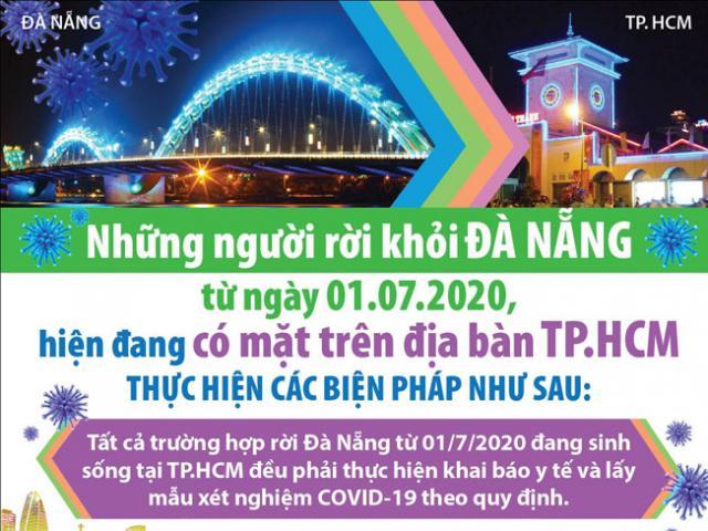 Người ở Đà Nẵng về TP.HCM được xét nghiệm COVID-19 như thế nào?