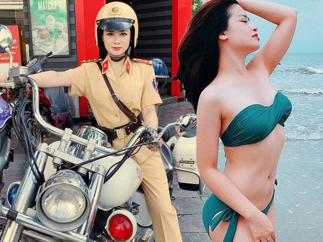 """Nữ cảnh sát giao thông xinh đẹp khiến fan nam """"tình nguyện nộp phạt"""" lộ thân thế bất ngờ"""