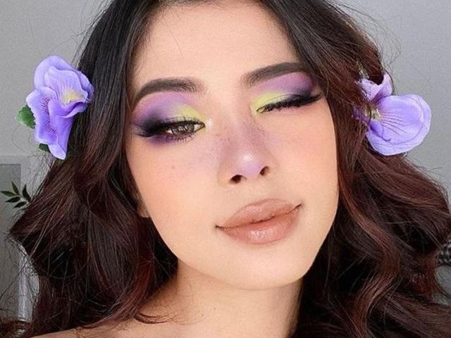 Xu hướng làm đẹp hot mùa thu 2020: mi mắt màu hoa cà, móng tay da rắn, đôi môi ửng hồng...