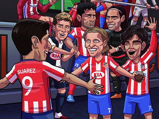 "Ảnh chế: Bị Barca xử phũ, Suarez gia nhập Atletico Madrid để ""báo thù"""