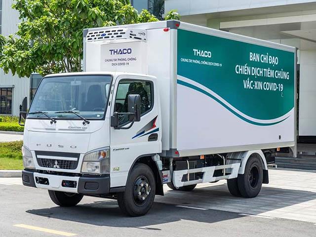 Chi tiết xe chuyên dụng vận chuyển và tiêm vaccine lưu động của THACO