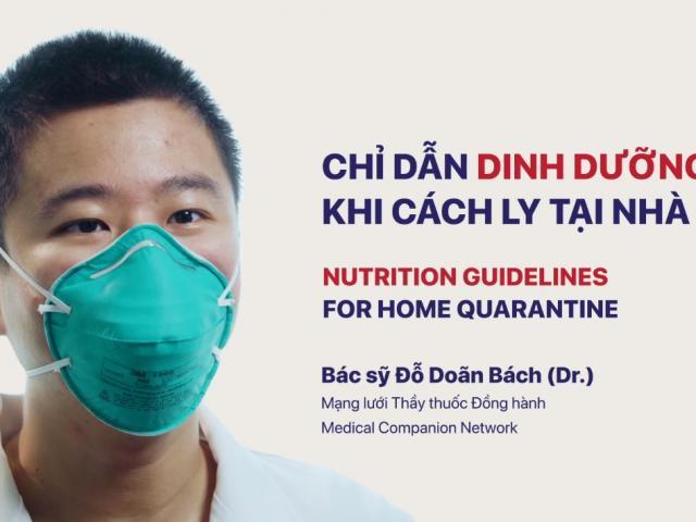 Hướng dẫn chế độ dinh dưỡng tại nhà cho F0, F1