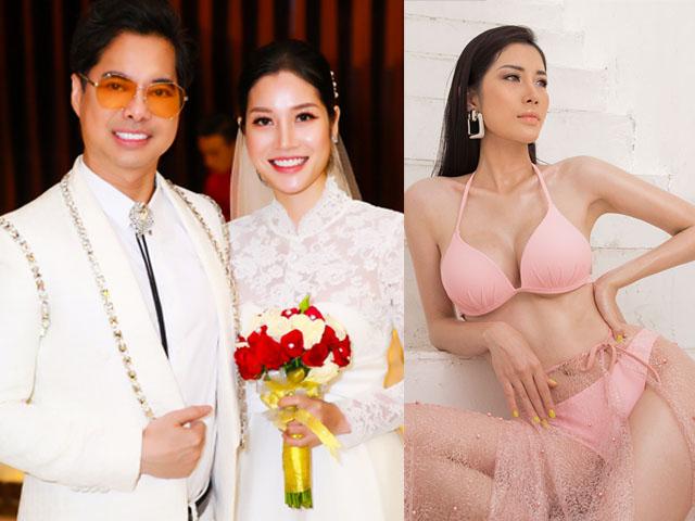 """""""Cô dâu"""" kém 24 tuổi của Ngọc Sơn lần đầu chụp ảnh bikini bốc lửa"""