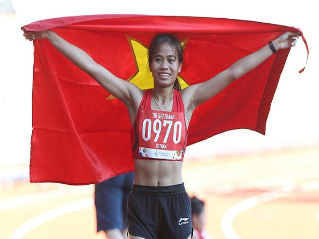 """Phạm Thị Thu Trang """"đóng thế"""" giành HCV chạy 10.000m khiến đối thủ choáng"""