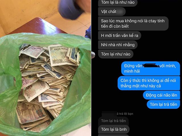 Trầy trật đòi nợ bạn trai cũ, cô gái sốc khi nhận được túi tiền lẻ
