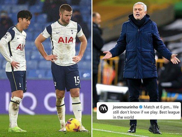 Nóng: Trận Tottenham - Fulham bị hoãn vì Covid-19, Mourinho bức xúc