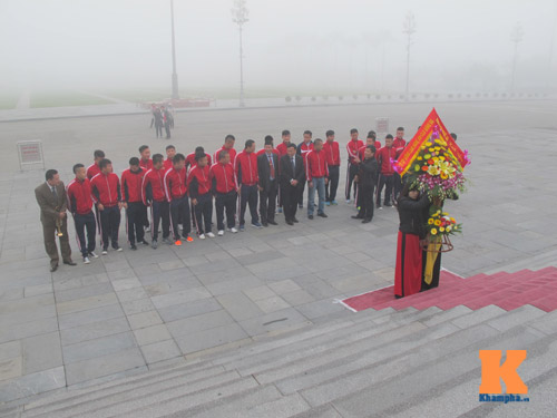 SLNA làm lễ xuất quân, hướng tới top 5 V-League 2014