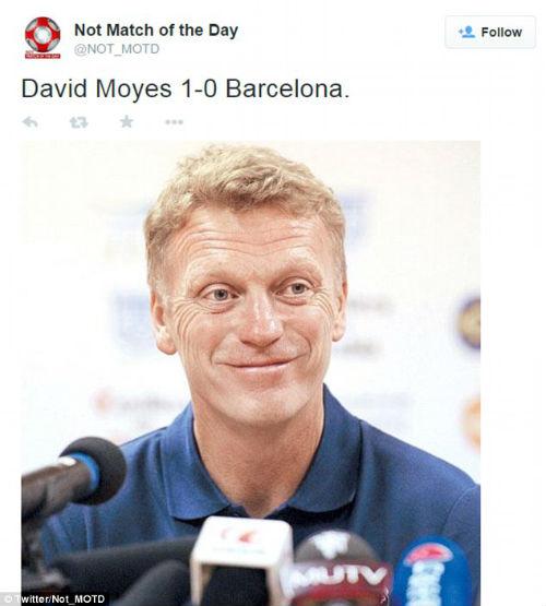 Đả bại Barca, HLV David Moyes gây 'sốt' xình xịch