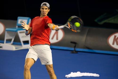 Nadal, Djokovic... ráo riết tập luyện tại Úc
