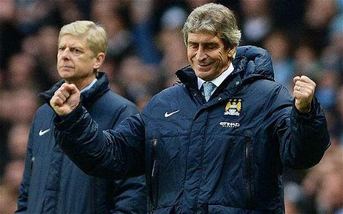 Wenger không sợ Man City, Pellegrini chẳng lo Arsenal