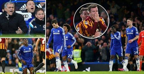 Mourinho xấu hổ bởi Chelsea thua sốc