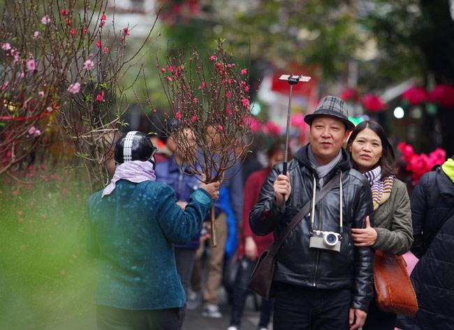 Ảnh: Sắc màu chợ hoa xuân phố cổ ngày cận Tết - hình ảnh 5