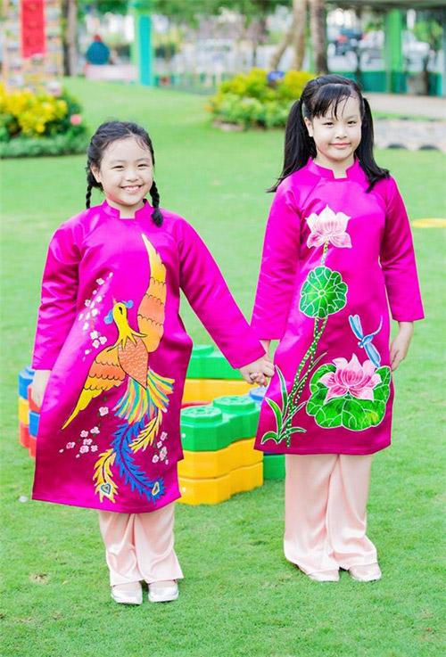 'Cục cưng' nhà sao Việt đáng yêu với áo dài, khăn xếp - hình ảnh 13
