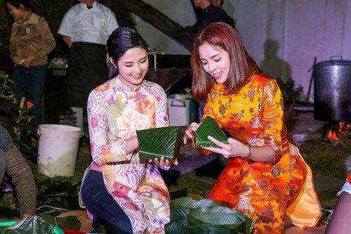 Hoa hậu Kỳ Duyên xuống tóc rộn ràng đón năm mới - hình ảnh 5