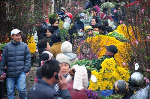 """Hà Nội: Sắc đào """"nhuộm"""" đỏ chợ hoa Quảng Bá - hình ảnh 16"""