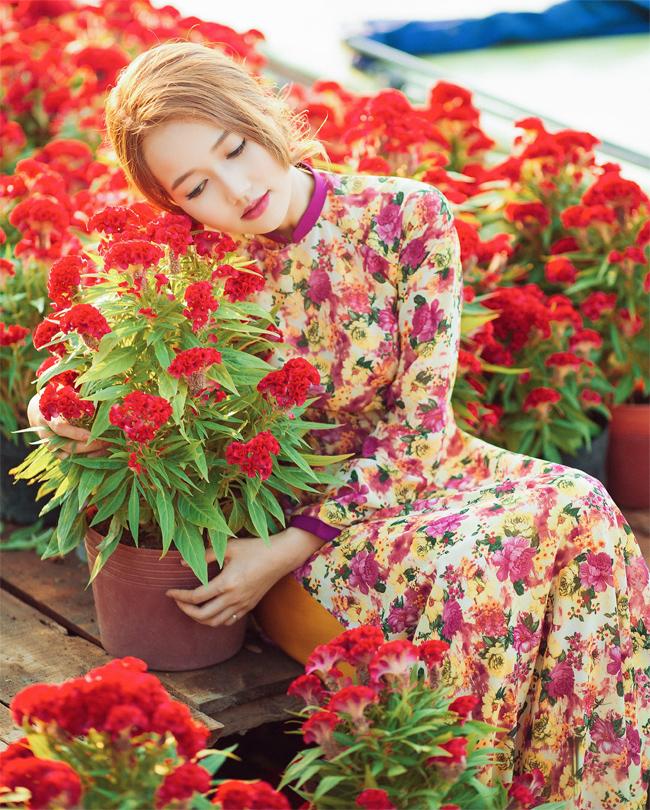 Hot girl Nhung Gumiho rực rỡ khoe sắc xuân - hình ảnh 1