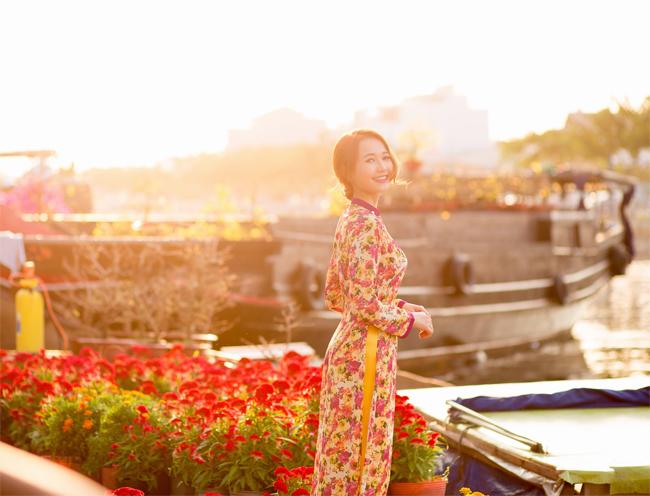 Hot girl Nhung Gumiho rực rỡ khoe sắc xuân - hình ảnh 4
