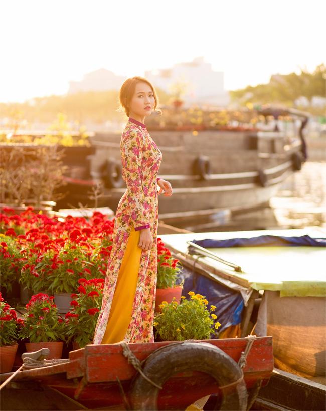 Hot girl Nhung Gumiho rực rỡ khoe sắc xuân - hình ảnh 8