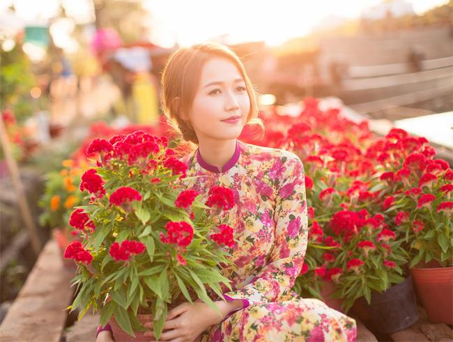 Hot girl Nhung Gumiho rực rỡ khoe sắc xuân - hình ảnh 12