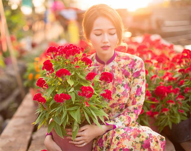 Hot girl Nhung Gumiho rực rỡ khoe sắc xuân - hình ảnh 9