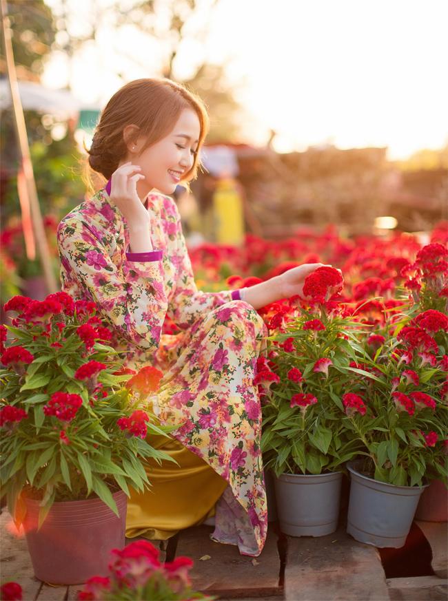 Hot girl Nhung Gumiho rực rỡ khoe sắc xuân - hình ảnh 13