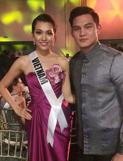 Suýt vấp té, Lệ Hằng ứng biến xuất sắc tại Hoa hậu hoàn vũ - hình ảnh 8