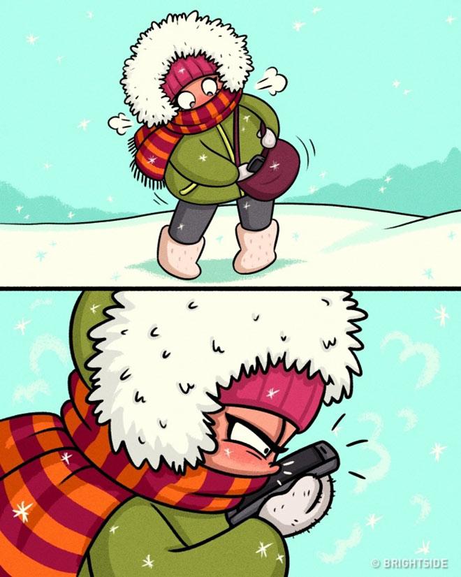 Nỗi khổ của các nàng sexy khi mùa đông đến - hình ảnh 5
